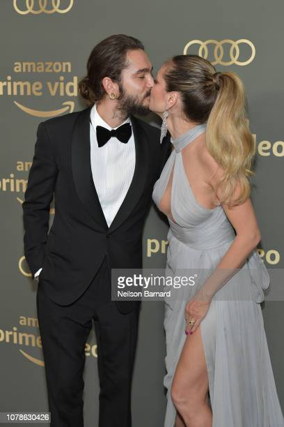 Tom Kaulitz and Heidi Klum attend the Amazon Prime Video's Golden Globe Awards After Party at The Beverly Hilton Hotel on January 6 2019 in Beverly...