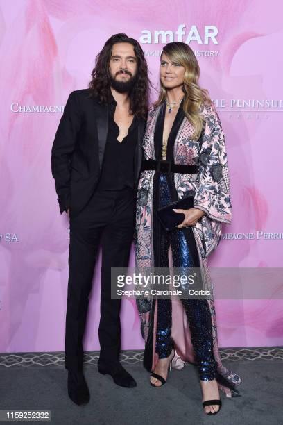 Tom Kaulitz and Heidi Klum attend the Amfar Gala At The Peninsula Hotel In Paris on June 30 2019 in Paris France
