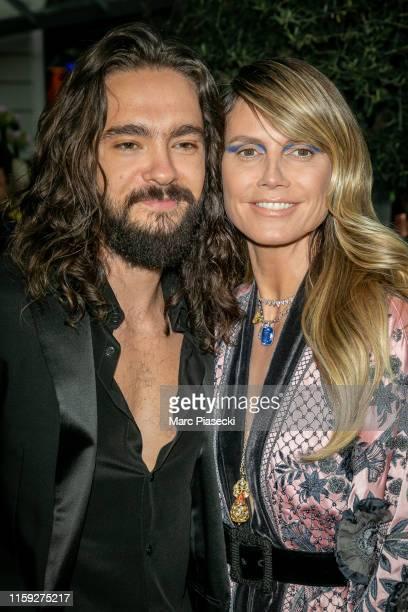 Tom Kaulitz and Heidi Klum attend the Amfar Gala at The Peninsula Hotel In Paris on June 30, 2019 in Paris, France.