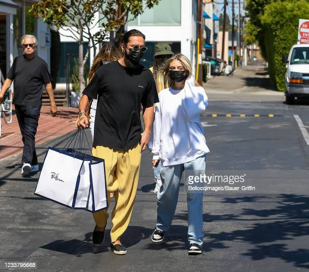 Tom Kaulitz and Leni Klum are seen on July 03, 2021 in Los Angeles, California.