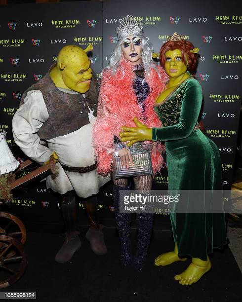 Tom Kaulitz Bill Kaulitz and Heidi Klum attend Heidi Klum's 19th Annual Halloween Party at Lavo on October 31 2018 in New York City