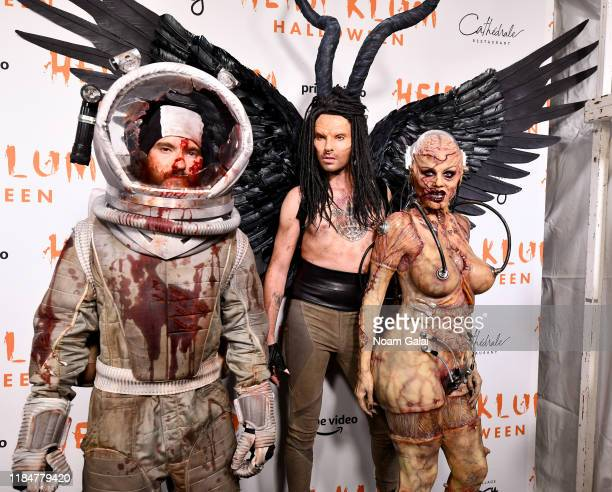 Tom Kaulitz, Bill Kaulitz and Heidi Klum attend Heidi Klum's 20th Annual Halloween Party presented by Amazon Prime Video and SVEDKA Vodka at...