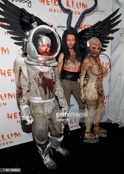 Tom Kaulitz Bill Kaulitz and Heidi Klum attend Heidi Klum's Annual Hallowe'en Party at Cathedrale on October 31 2019 in New York City