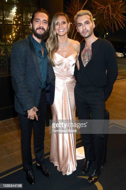 Tom Kaulitz Heidi Klum and Bill Kaulitz attend the Michael Che and Colin Jost's Emmys After Party presented by Google at Hollywood Roosevelt Hotel on...