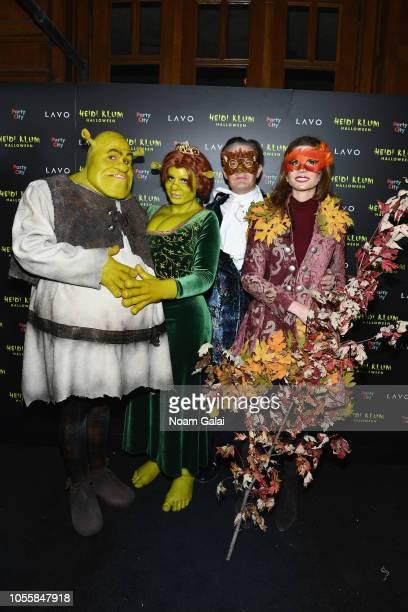 Tom Kaulitz Heidi Klum Kyle MacLachlan and Desiree Gruber attend Heidi Klum's 19th Annual Halloween Party presented by Party City and SVEDKA Vodka at...