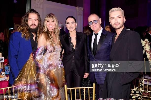 Tom Kaulitz Heidi Klum Monica Mitro Nigel Curtis and Bill Kaulitz attend the Angel Ball 2019 hosted by Gabrielle's Angel Foundation at Cipriani Wall...
