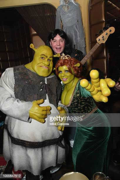 Tom Kaulitz Mike Myers and Heidi Klum attend Heidi Klum's 19th Annual Halloween Party presented by Party City and SVEDKA Vodka at LAVO New York on...