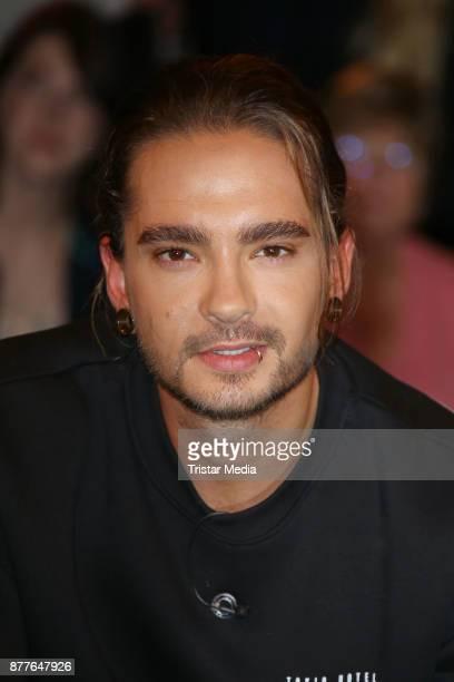 Tom Kaulitz of the band 'Tokio Hotel' during the Markus Lanz TV Talkshow on November 22 2017 in Hamburg Germany