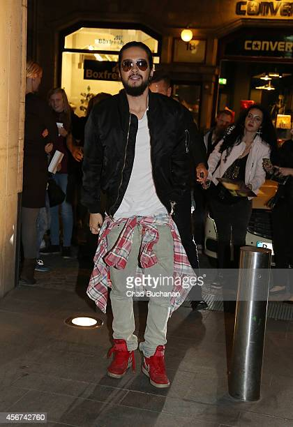 Tom Kaulitz of the band Tokio Hotel sighted at the Spotify studio on October 6 2014 in Berlin Germany