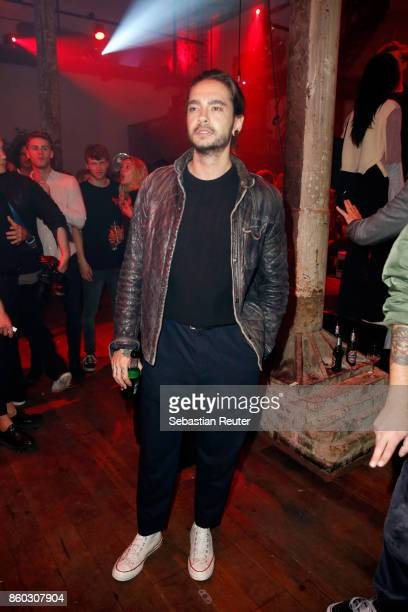 Tom Kaulitz of Tokio Hotel attends the Moncler X Stylebopcom launch event at the Musikbrauerei on October 11 2017 in Berlin Germany