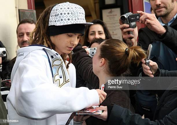 Tom Kaulitz of 'Tokio Hotel' during German Boy Band 'Tokio Hotel' Sighting in Paris November 27 2006 at Paris in Paris France