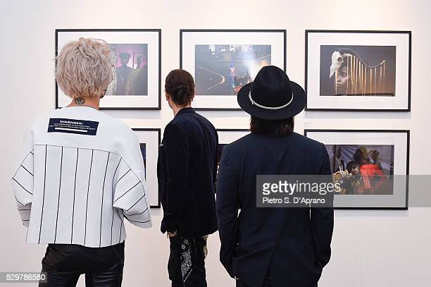 Tom Kaulitz Shiro Gutzie at the photo art exhibition and book launch of BILLY at 10 Corso Como on May 9 2016 in Milan Italy