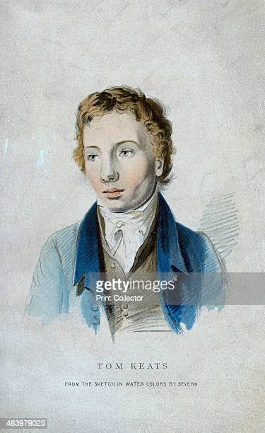 Tom Keats 19th century Portrait of the brother of the poet John Keats who cared for him while he was suffering from tuberculosis Tom died from the...
