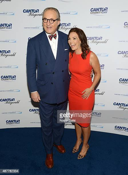 Tom Keene and journalist Erica Hill attend the annual Charity Day hosted by Cantor Fitzgerald and BGC at Cantor Fitzgerald on September 11 2015 in...