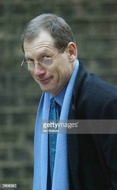 Tom Kelly back at Downing Street January 28 2004 in London Blair is riding out a turbulent week in which his government narrowly avoided defeat in a...