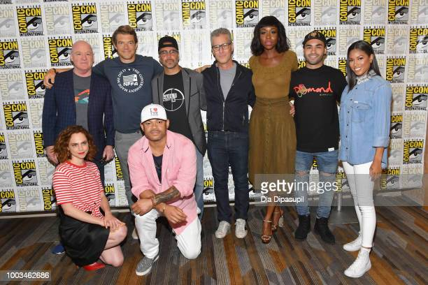 Tom Kelly Fiona Dourif Jason Blum Anthony Hemingway James DeMonaco Brad Fuller Amanda Warren Gabriel Chavarria and Lex Scott Davis attend the 'The...