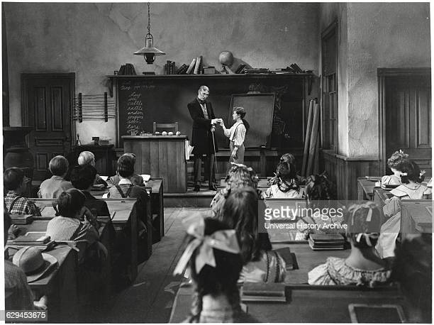 """Tom Kelly in Classroom Scene onset of the Film """"The Adventures of Tom Sawyer"""" 1938"""