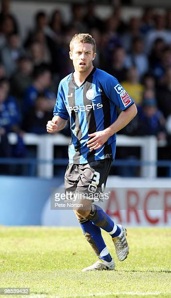 Tom Kennedy of Rochdale in action during the Coca Cola League Two Match between Rochdale and Northampton Town at Spotland Stadium on April 17 2010 in...
