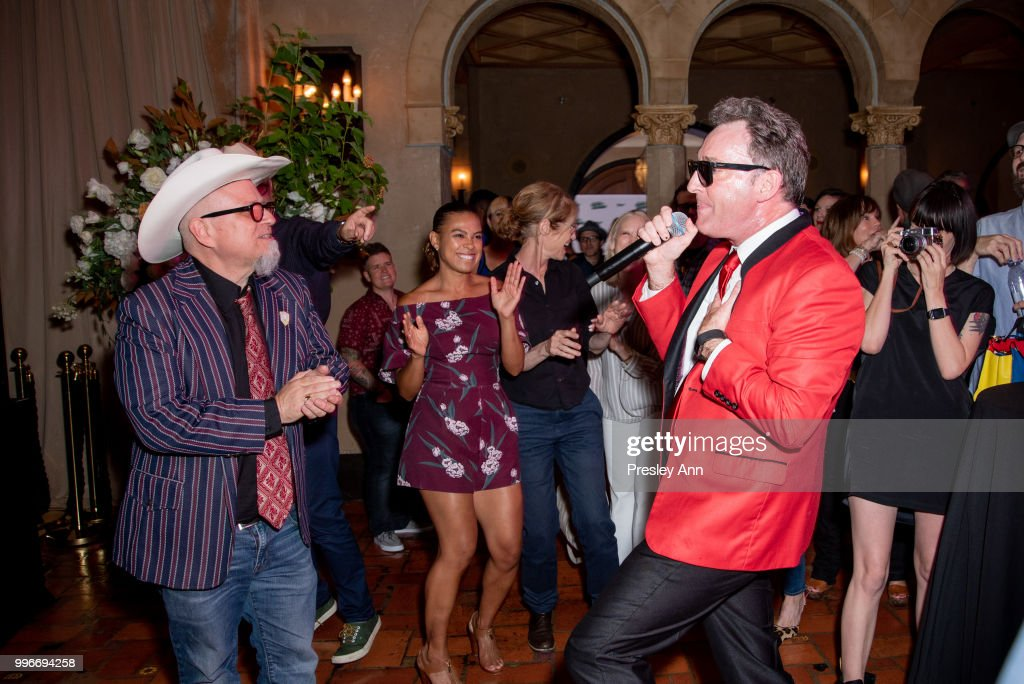 Tom Kenny and Bobcat Goldthwait attend after party for the premiere of truTV's 'Bobcat Goldthwait's Misfits & Monsters' at Hollywood Roosevelt Hotel on July 11, 2018 in Hollywood, California.