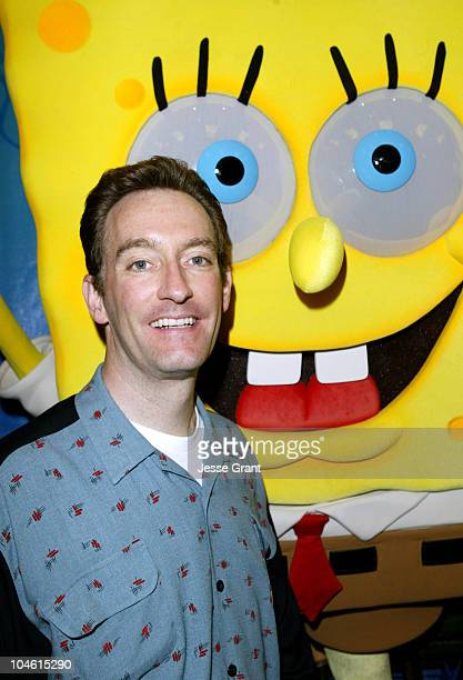 Tom Kenny and SpongeBob Squarepants during Hollywood Radio and Television Society Presents 'Kids Day 2004' at Hollywood and Highland Grand Ballroom...