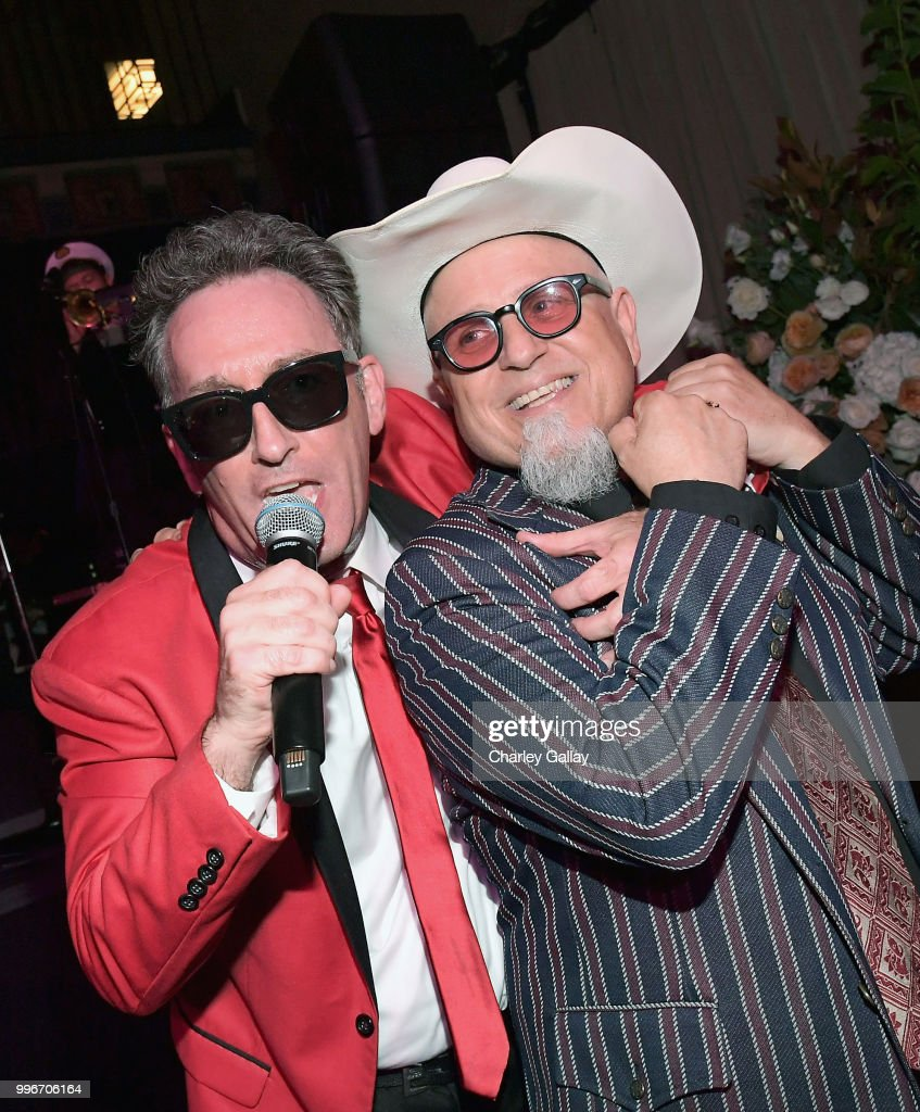 Tom Kenny & The Hi-Seas (L) and Creator/Executive Producer/Writer Bobcat Goldthwait attend Bobcat Goldthwait's Misfits & Monsters Premiere Event at The Hollywood Roosevelt Hotel on July 11, 2018 in Hollywood, California. 392403.