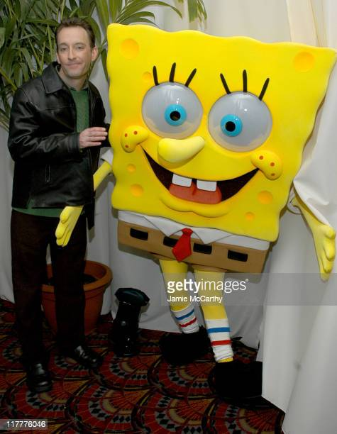 Tom Kenny the voice of SpongeBob SquarePants during The SpongeBob SquarePants Movie New York City Screening to Benefit the Princess Grace Awards at...