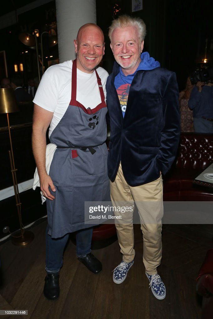 Tom Kerridge and Chris Evans attend the launch of chef Tom Kerridge's new restaurant Kerridge's Bar & Grill at Corinthia London on September 12, 2018 in London, England.