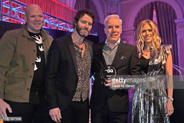 Tom Kerridge Howard Donald Dale Wyatt accepting the Best Fun 4x4 award on behalf of the Suzuki Jimny and Nicki Shields attend the GQ Car Awards 2019...