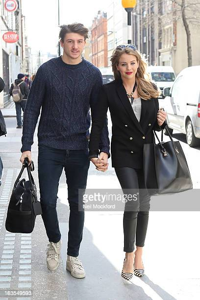 Tom Kilby and Lydia Bright seen heading out for brunch in his new car on March 12 2013 in London England