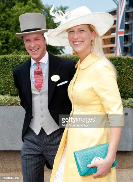 Tom Kingston and Lady Gabriella Windsor attend day 1 of Royal Ascot at Ascot Racecourse on June 20 2017 in Ascot England