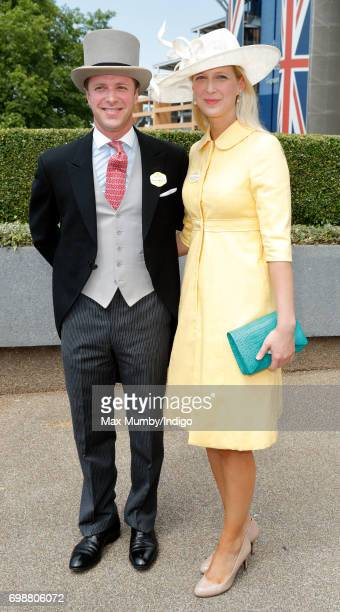 Tom Kingston and Lady Gabriella Windsor attend day 1 of Royal Ascot at Ascot Racecourse on June 20, 2017 in Ascot, England.