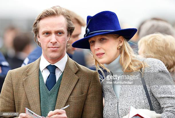 Tom Kingston and Lady Gabriella Windsor attend day 3 of the Cheltenham Festival at Cheltenham Racecourse on March 12 2015 in Cheltenham England