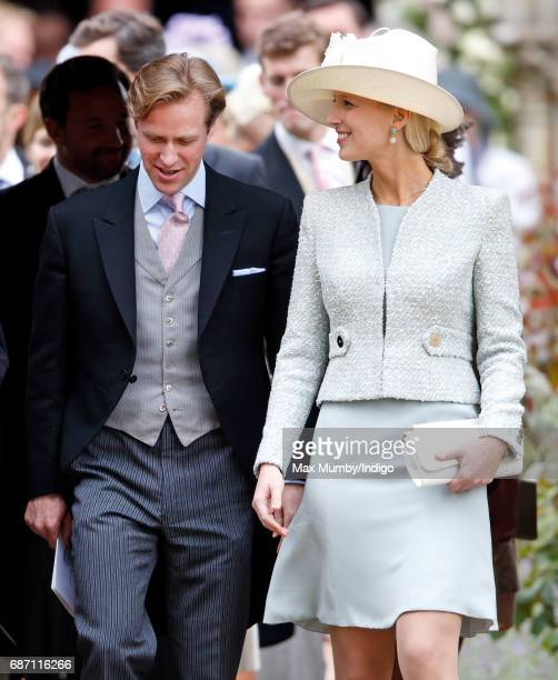 Tom Kingston and Lady Gabriella Windsor attend the wedding of Pippa Middleton and James Matthews at St Mark's Church on May 20 2017 in Englefield...