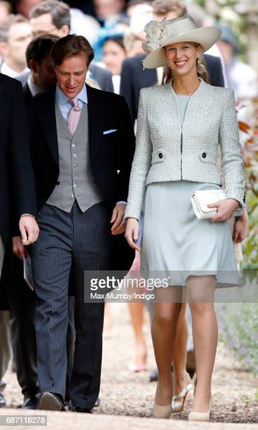 Tom Kingston and Lady Gabriella Windsor attend the wedding of Pippa Middleton and James Matthews at St Mark's Church on May 20, 2017 in Englefield...