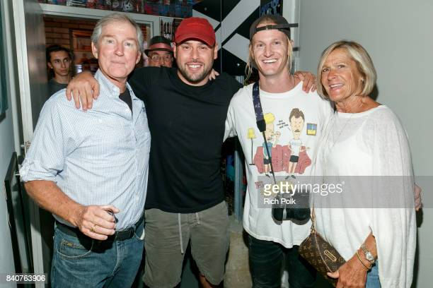 Tom Kramer Scooter Braun Rory Kramer and Susan Kramer attend MTV's Dare To Live Premiere Party at WNDO Space on August 29 2017 in Venice California