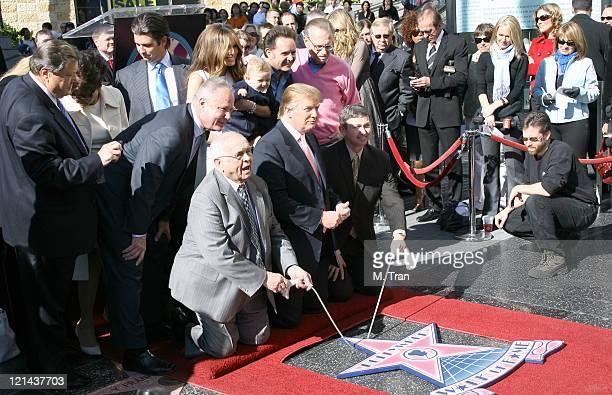 Tom LaBonge Melania Trump Barron Trump Mark Burnett Larry King Johnny Grant and Donald Trump