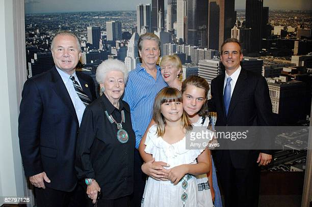 Tom LaBonge Rose Ledbetter Brian Wilson Melinda Wilson Delanie Wilson Daria Wilson and Jack Weiss attend the Brian Wilson Presentation at Los Angeles...