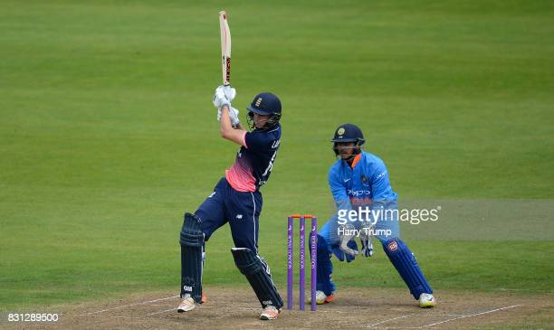 Tom Lammonby of England U19 bats during the 4th ODI match between England U19's and India U19's at The County Ground on August 14 2017 in Bristol...
