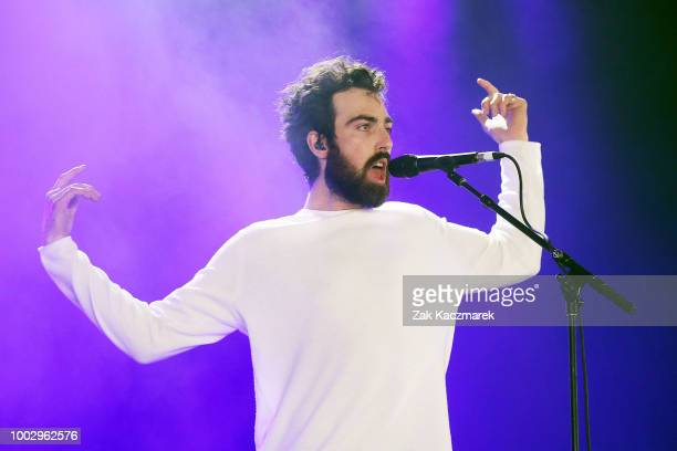 David Le'aupepe of Gang of Youths performs during Splendour in the Grass 2018 on July 21 2018 in Byron Bay Australia