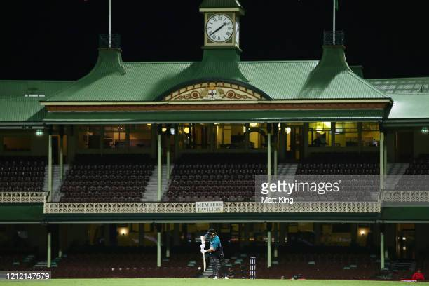 Tom Latham of New Zealand bats during game one of the One Day International series between Australia and New Zealand at Sydney Cricket Ground on...
