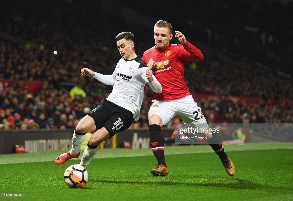 Manchester United v Derby County - The Emirates FA Cup Third Round : News Photo