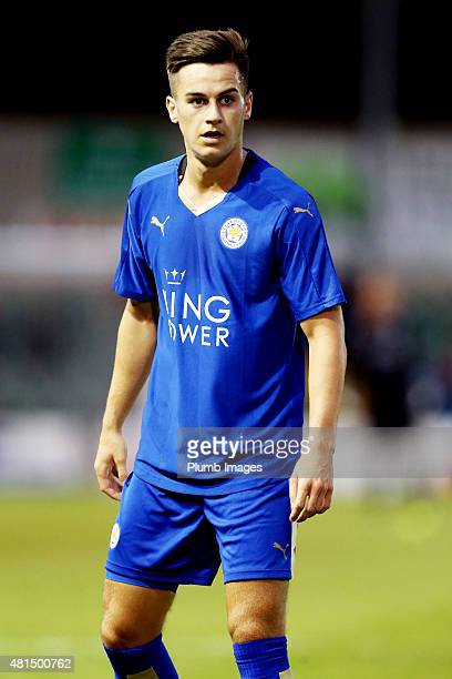 Tom Lawrence of Leicester city during the preseason friendly between Lincoln City and Leicester City at Sincil Bank Stadium on July 21 2015 in...