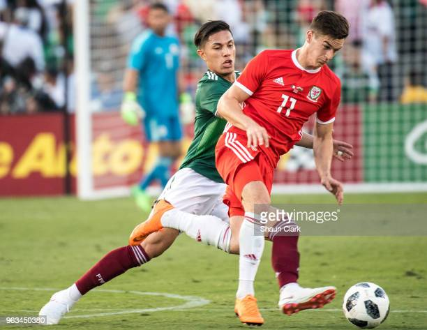 Tom Lawrence of Wales during the international friendly match between Mexico and Wales at the Rose Bowl on May 28 2018 in Pasadena California