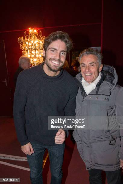Tom Leeb and Gerard Holtz attend 'Michel Leeb 40 ans' Theater Show at Casino de Paris on December 14 2017 in Paris France