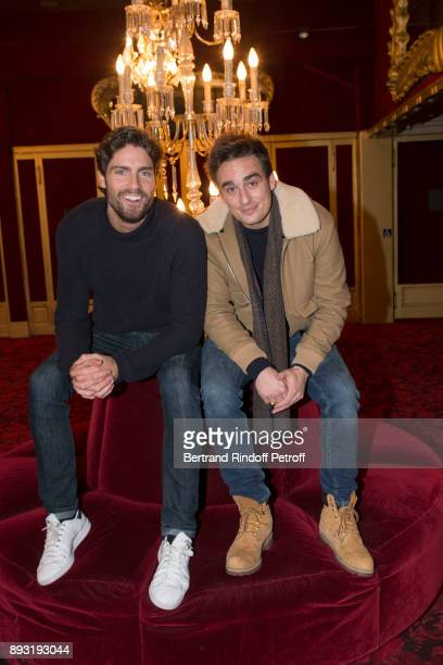 Tom Leeb and Kevin Levy attend 'Michel Leeb 40 ans' Theater Show at Casino de Paris on December 14 2017 in Paris France
