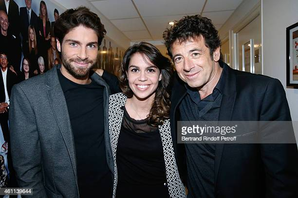 Tom Leeb Elsa Leeb and singer Patrick Bruel attend the Michel Leeb's 'Vivement Dimanche' French TV Show at Pavillon Gabriel on January 7 2015 in...