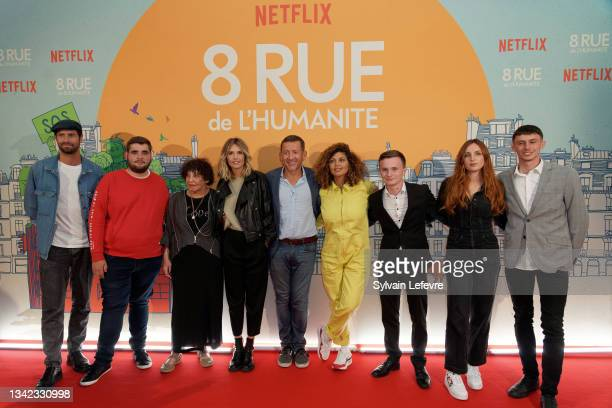 Tom Leeb, Liliane Rovere, Laurence Arne, Dany Boon, Nawell Madani, Alison Wheeler and Léo, Wilfried and Franck attend the photocall for the premiere...
