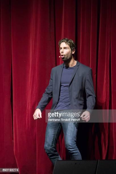 Tom Leeb perform during 'Michel Leeb 40 ans' Theater Show at Casino de Paris on December 14 2017 in Paris France