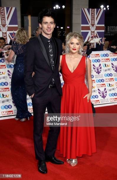 Tom Leech and Lucy Fallon attend Pride Of Britain Awards 2019 at The Grosvenor House Hotel on October 28 2019 in London England