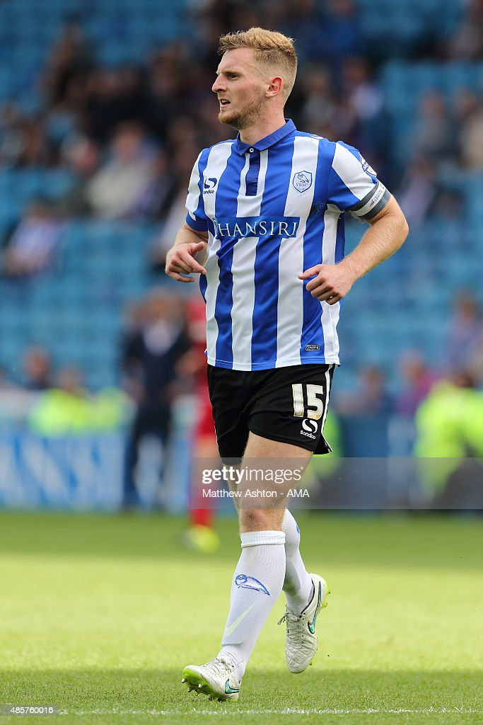 Tom Lees of Sheffield Wednesday during the Sky Bet Championship match between Sheffield Wednesday and Middlesbrough at Hillsborough on August 29, 2015 in Sheffield, England.